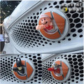 Acessórios de estilo de carro de corrida grills guarnição Emblema etiquetas dos desenhos animados da tampa 1 p fit para 2015-2016 smart fortwo