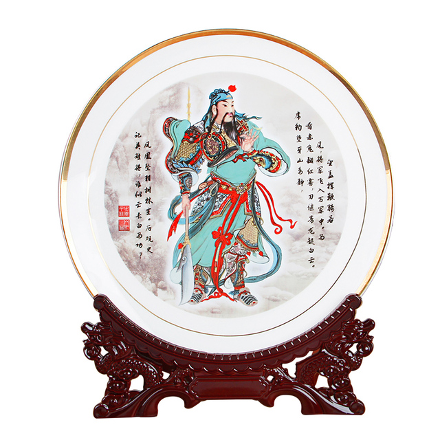 Chinese Maitreya Buddha Guan Fine Bone China Ceramic Plate Decoration Plate Hanging Plate Porcelain Plate Set  sc 1 st  AliExpress.com : chinese ceramic plates - pezcame.com