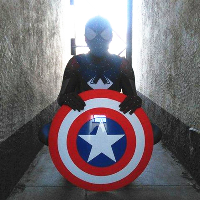[ Funny ] Cosplay 57cm The Avengers Civil War Captain America Shield 1:1 1/1 Steve Rogers ABS model adult shield replica toys new marvel the avengers age of ultron captain america cosplay costume steve rogers outfits adult superhero costume