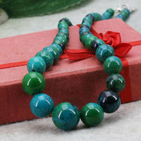 Elegant Tower Necklace Chain Riverstones Rain Flower Rainbow Semi Precious Stones Jasper Jewelry Crafts Women Girls