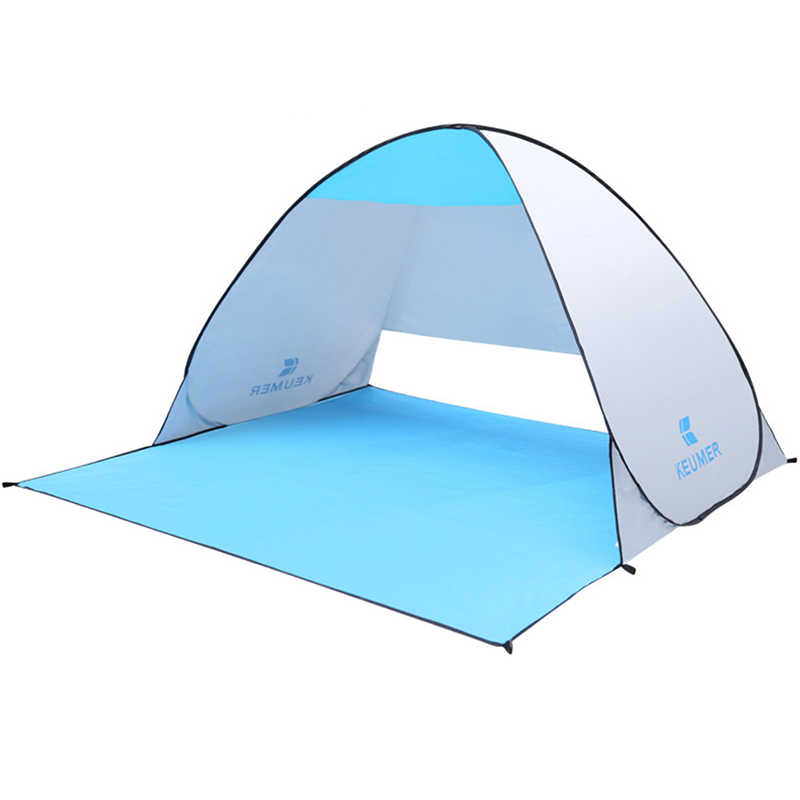 Otomatis Camping Tenda Kapal Beach Tenda 2 Orang Tenda Instan Pop Open Anti UV Tenda Tenda Outdoor Sunshelter