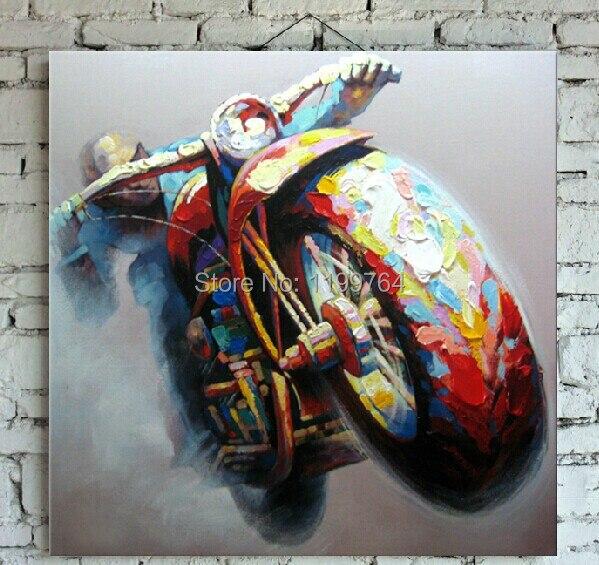 Achetez en gros moto art peintures en ligne des for Piece 3d en ligne