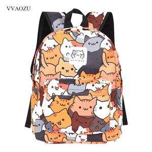 Image 1 - Anime Neko Atsume Ba Lô Nữ Hoạt Hình Mochila cho Bé Gái Bé Trai Du lịch Mèo In Túi dành cho Tuổi Teen