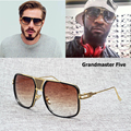 2016 New Fashion Grandmaster Five Gradient Sunglasses Men Brand Design Aviator Style Sun Glasses Oculos De Sol Lunettes 97083