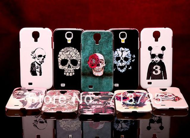 Colored Drawing Skull Plastic Hard Case for Samsung Galaxy S4, S IV, i9500 i9502, Protective Case for i959  i9508, Multi-drawing
