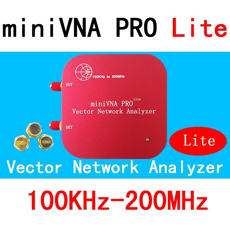 VNA 100K-200MHz Vector Network Analyzer miniVNA PRO Lite VHF/NFC/RFID RF Antenna Analyzer VNA Signal Generator SWR/S11 S21/Smith vna 1m 3ghz vector network analyzer minivna tiny vhf uhf nfc rfid rf antenna analyzer signal generator swr s parameter smith