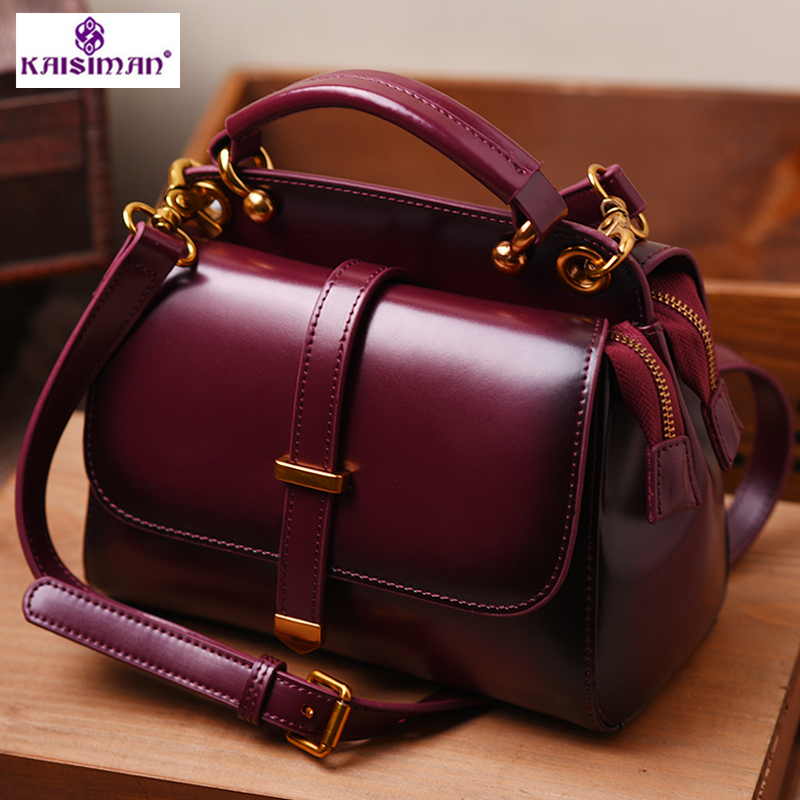 46d976d860 6Color Women Genuine Leather Handbags Famous Brand Handbag Messenger Small Bags  Cow Leather Shoulder Bag Fashion