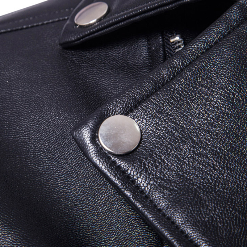 Image 4 - Puff sleeve business casual leather coat New winter Fashion leather jackets slim fit Men Classic leather jacket M 5XL size-in Faux Leather Coats from Men's Clothing