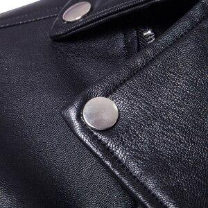 Image 4 - Puff sleeve negócios casual casaco de couro nova moda inverno jaquetas de couro fino ajuste masculino clássico jaqueta de couro M 5XL tamanho