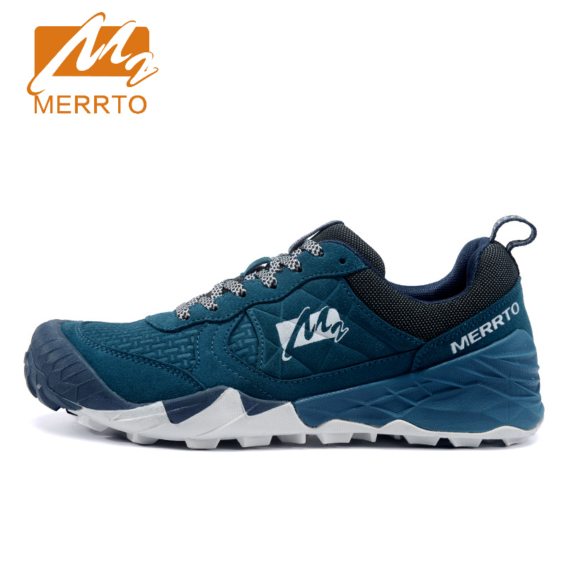 2017 Merrto Men Breathable Light Weight Outdoor Walking Shoes Non-slip Shoes Color Brown Grey For Male Free Shipping MT18613