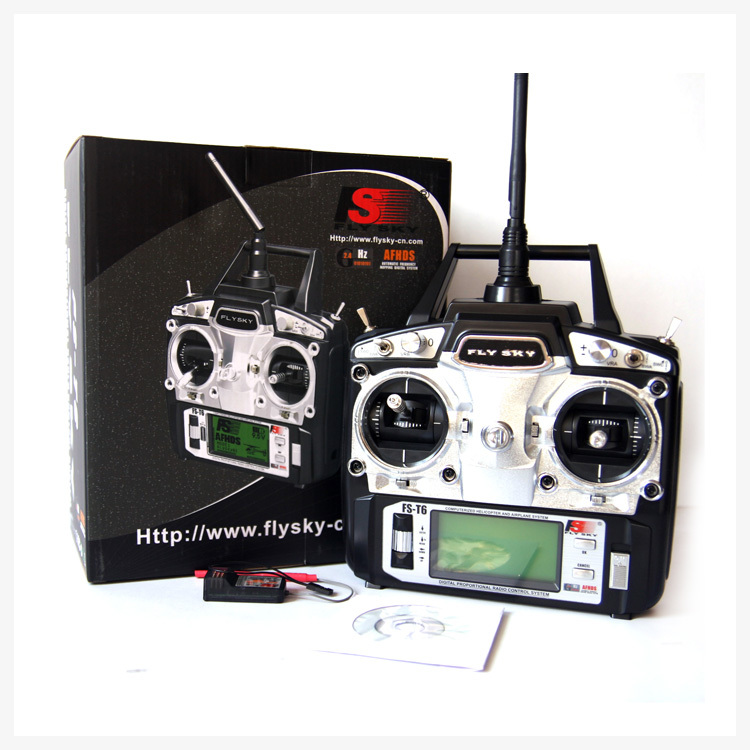 Freeshipping FlySky FS-T6 FS T6 2.4G Digital 6 Channels Transmitter & Receiver RC Radio Mode 2