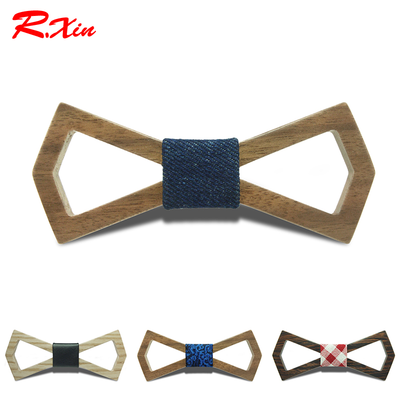 2016 Noeud Papillon Men Hardwood Bow Tie For Men Classic Bowties Neckwear Creative Handmade Butterfly Wood Tie Gravata