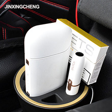 JINXINGCHENG Portable Type c Design Car Charger for iqos 2.4 Plus Charger Fast Charge Holder for iqos Stand Charge Dock