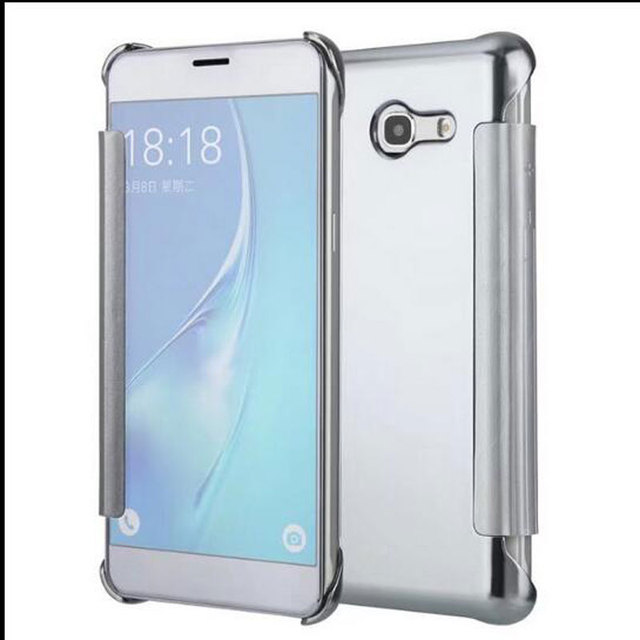 check out 7cf2a 28caf US $4.49 10% OFF|Case For Samsung Galaxy J5 2017 Clear View Mirror Flip  Cover For Samsung Galaxy J5 2016 J510 Mirror Leather Case for samsung j5  -in ...