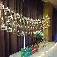 3 м украшения для дня рождения Свадьба Baby Shower крещение питания Звездное держатель фото свет шнура Юбилей клип в окне Рождество