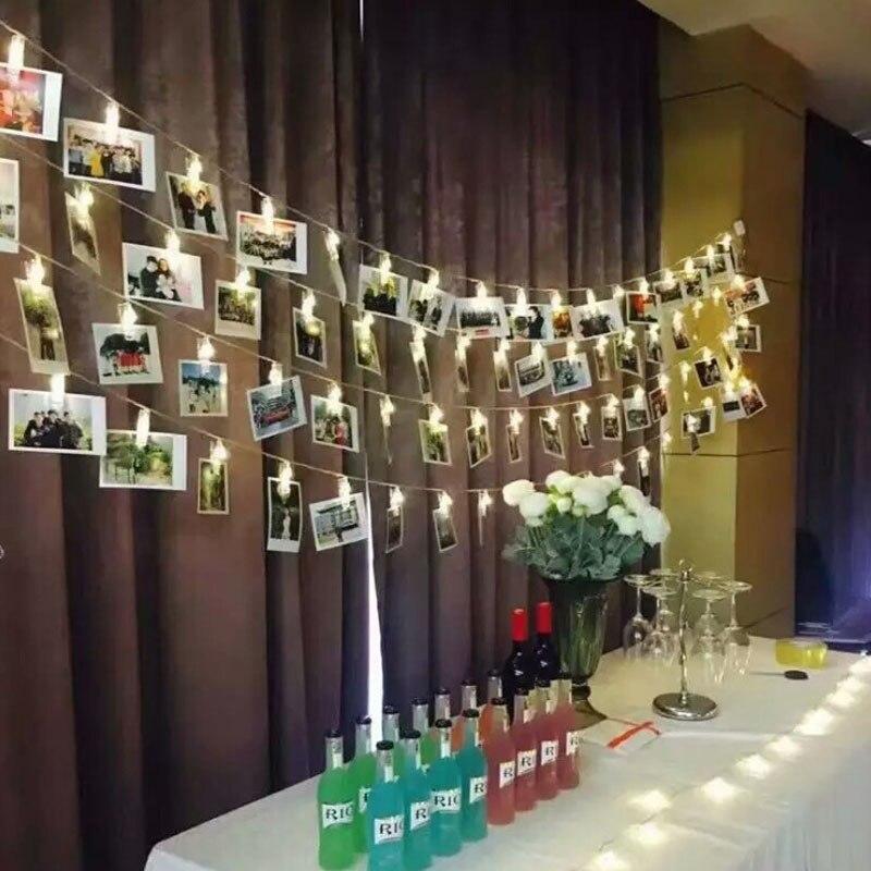 3m Birthday Decoration Wedding Baby Shower Baptism Supply Starry Photo Holder String Light Anniversary Clip Window Christmas
