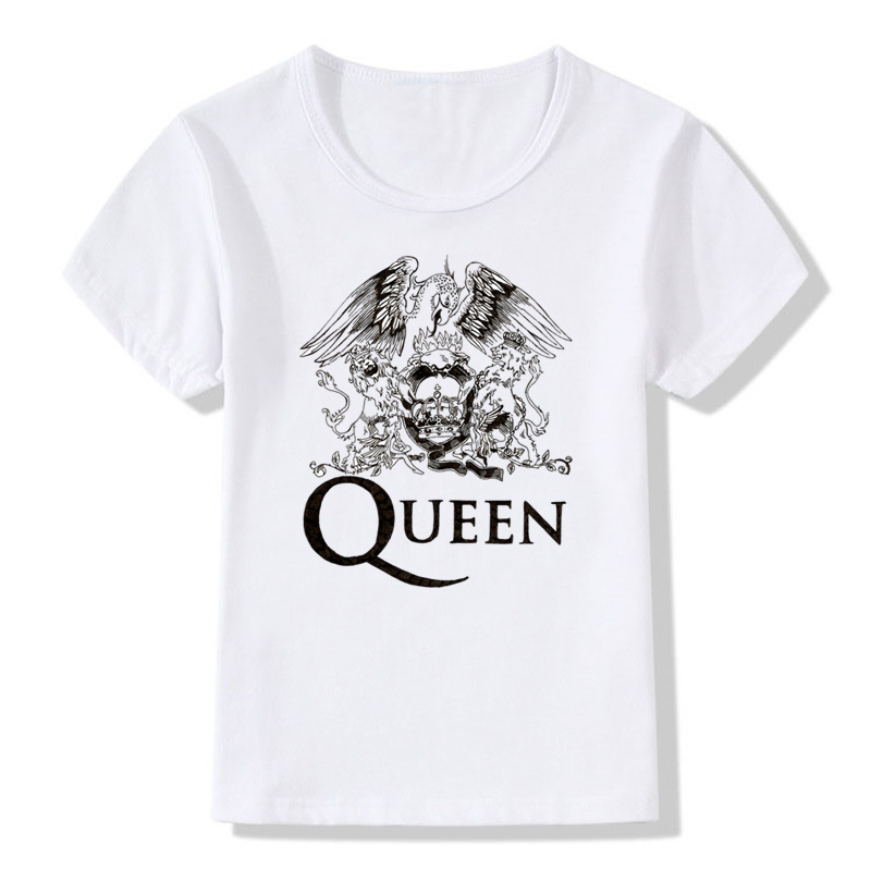 Boy & Girls Print FREDDIE MERCURY Camiseta para niños Heavy Rock Top 100 Band Queen T shirt Niños Tops Ropa casual para bebés, HKP627