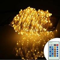 99Ft 30m 300 Leds Silver Wire Warm White LED String Lights Starry Lights Fairy Lights 12V