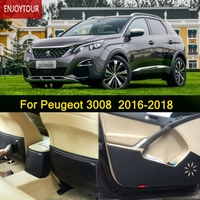 Car Pads Front Rear Door Seat Anti Kick Mat Car Styling Accessories For Peugeot 3008 2016