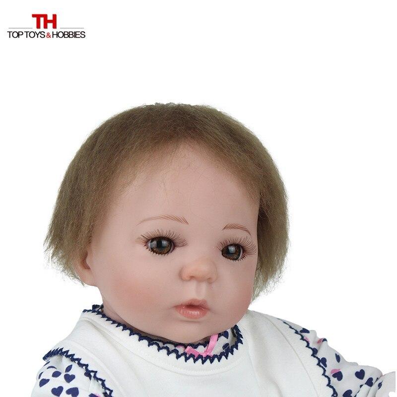 55 cm réaliste bambin poupée Reborn bébé fille avec sucette magnétique Silicone Vinly Bebe poupées enfants nouvel an cadeau Juguetes - 4