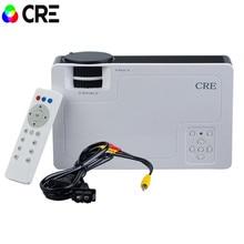 2016 marca CRE X1600 mini proyector de Cine En Casa de Vídeo LCD Tv cinema HDMI piCO fULi hD 1080 P LED Proyector Portátil beamer