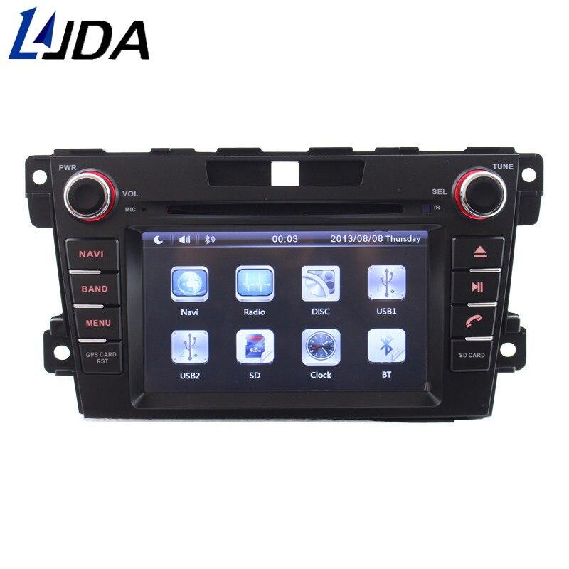 LJDA 7 pouces 2 din lecteur DVD de voiture pour Mazda CX-7 CX7 CX 7 2007-2013 Bluetooth multimédia 1080 P AUX Bluetooth SWC Mic GPS Navi FM