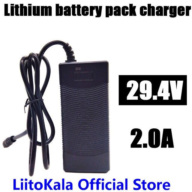 HK Liitokala Engineer Cao chất lượng 29.4 V 2A xe đạp điện lithium 18650 sạc cho 24 V 2A pin lithium gói Cắm kết nối sạc