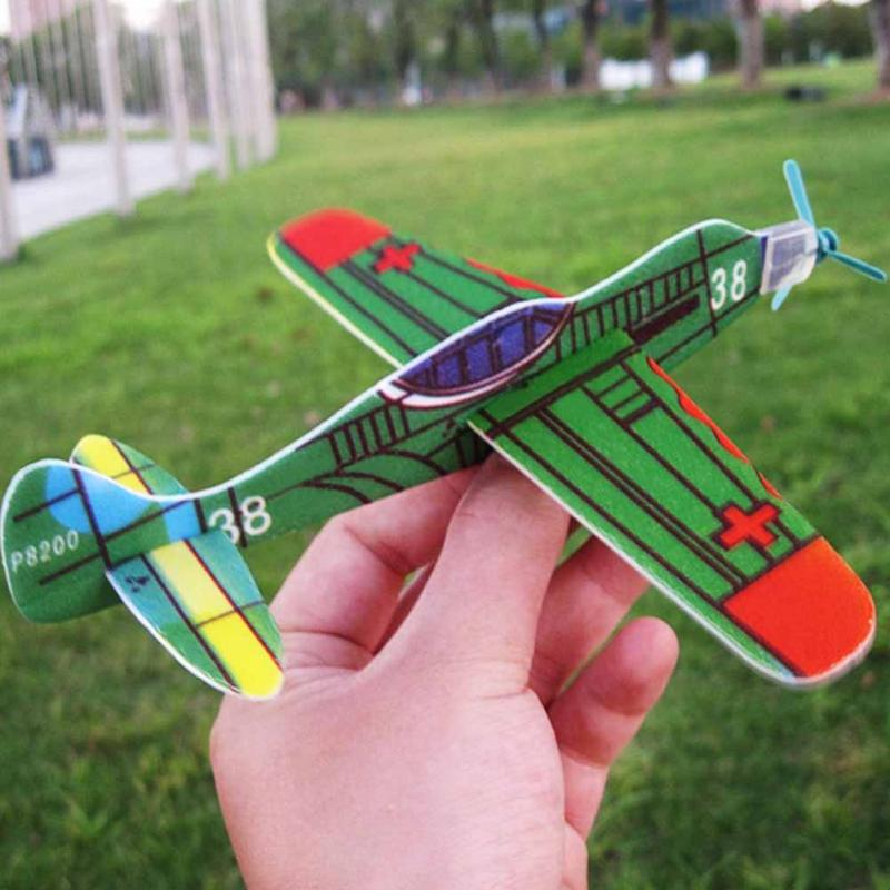 DIY Plastic Aeroplane Model Super Wing Flying Glider Plane Toys Hand Throw Flying Glider Planes For Children Kids Game #17