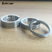 10PCS 1.18/30mm stainless steel Split KeyRing Keychain EDC Small Silver Keyring circle,outdoor travel goods survivel kit