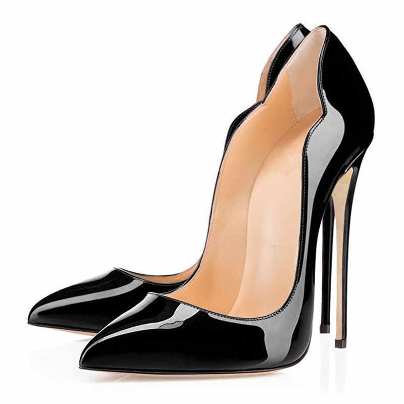 COCOAFOAL frauen High Heels Hochzeit Schuhe Ferse Frau Purps Sexy Zapatos Mujer Tacon Schwarz Rot frauen High Heels schuhe Partei