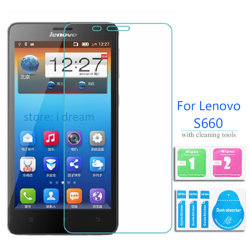 For Lenovo S660 Tempered glass Screen Protector 9h 2.5 Safety Protective Glass Film on S 660