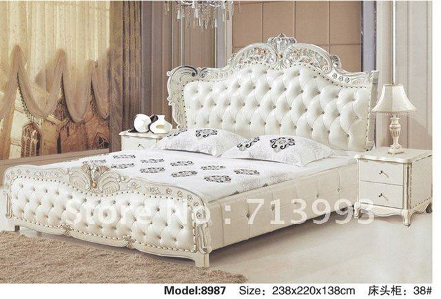 Europe Style bed/King Bed/Soft leather Bed