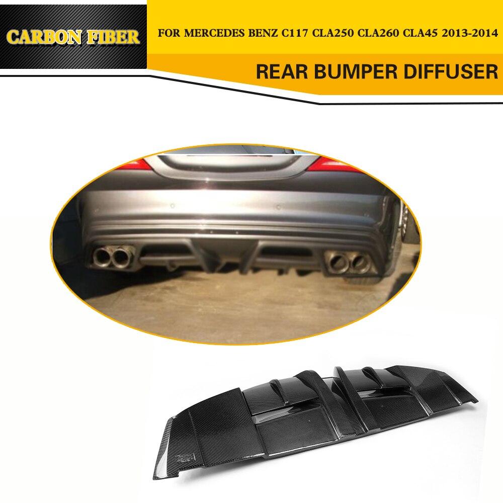 Стайлинга автомобилей углеродного волокна авто передний бампер туман Vent отделка для бенц C117 CLA250 CLA45 Седан 4 двери 2013