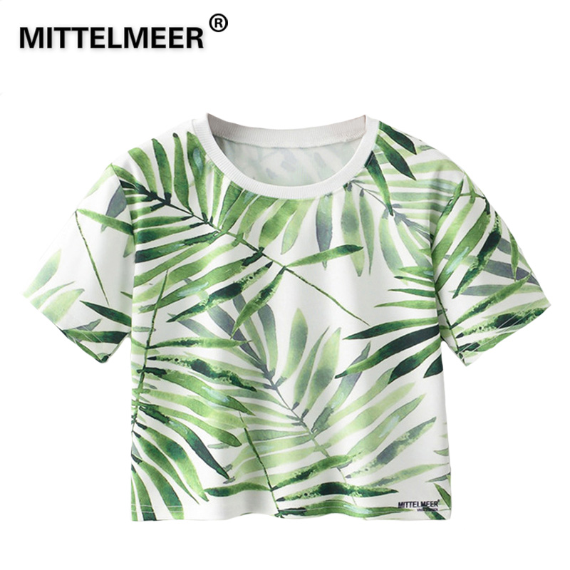 MITTELMEER 2018 Summer kawaii t Shirt Girls Student Women Harajuku Short Sleeve Cartoon Bamboo leaves T-Shirts Tee