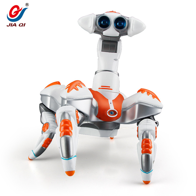 Kids toy Space dancing robot LZ444 Lightweight Electronics Creative infrared electric music rotating light remote control robot - 5