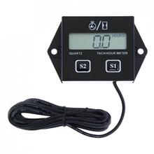High Quality Digital Engine Tach Hour Meter Tachometer Gauge Inductive For Motorcycle Motor Stroke Engine Spark  ged2600p engine laser tachometer motor machine automobile rotate speed tester digital engine tachometer ged 2600p fast shipping