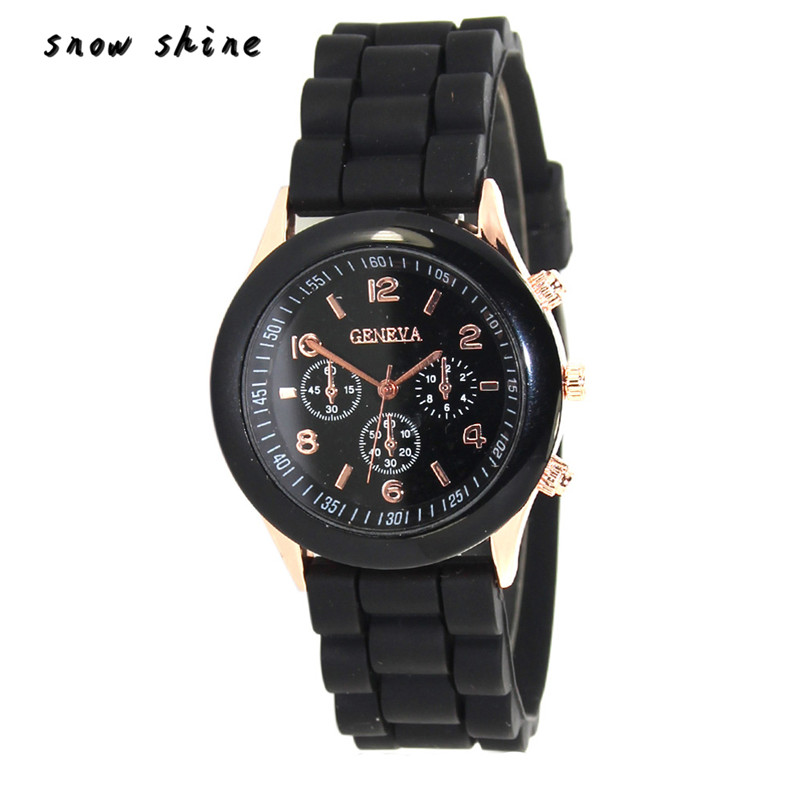 snowshine 10 Unisex Silicone Rubber Jelly Gel Quartz Analog Sports Women Wrist font b Watch b