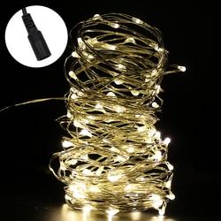 DC12V 10 m 100 Led cadena luces de hadas de Navidad alambre de plata + 12 v 1A/2A adaptador de fuente de alimentación EU/AU/US/UK plug kit