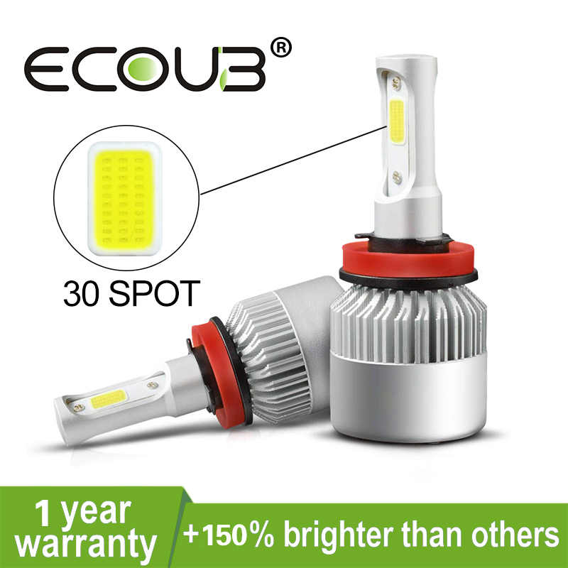 2pcs High Power H4 LED Headlight Bulb H7 H1 H4 H11 9005 9006 Hb3 Hb4 Car LED Fog Light S2 6500K 8000LM 12V Ampoule For Car Kit