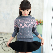 Girls sweater 2018 new autumn and winter children's clothing girls fashion thickening children's sweater princess sweet sweater