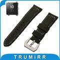 24mm banda reloj de cuero genuino de becerro italiano para sony smartwatch 2 sw2 tang hebilla correa de la correa de acero inoxidable pulsera