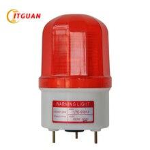 AC110V 220V LTE-5101J промышленный Предупреждение свет сигнальные огни Светодиодный проблесковый сигнал дна болта с звуковой сигнал DC12V 24V