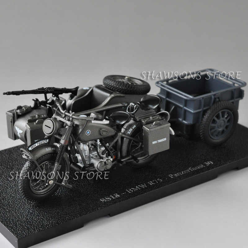 Military police motorcycle with sidecar Three destroyed mini