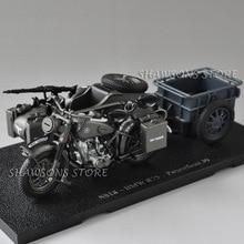 1:24 다이 캐스트 군사 모델 장난감 SS18 R75 Panzerfaust 30 Sidecar 오토바이 오토바이 미니어처 복제