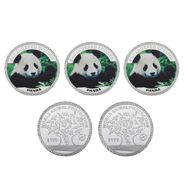 Wr Panda China Niedlichen Tier Metall Münze 9999 Silber überzogene