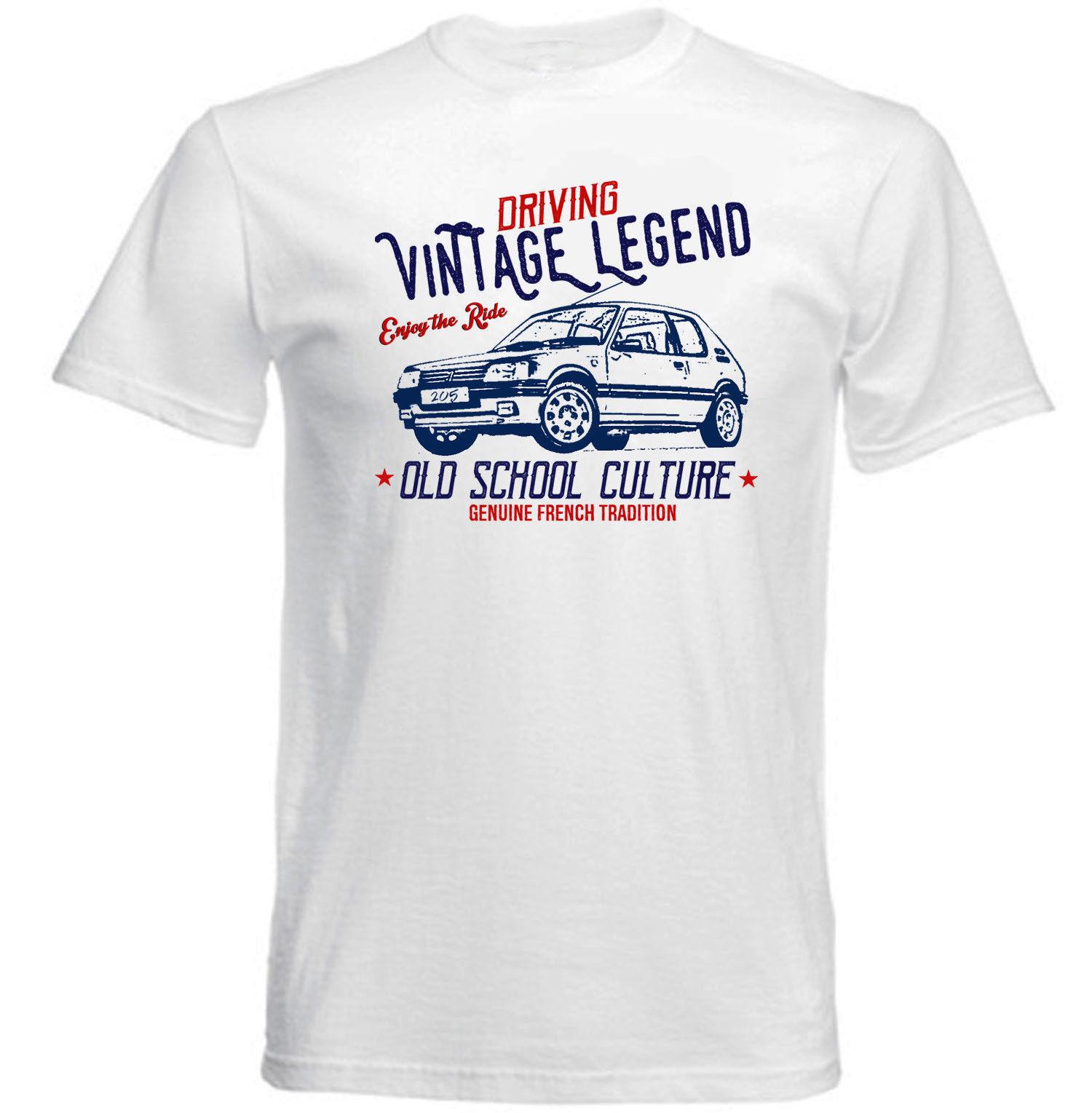 vintage french car peugeot 205 gti new cotton t shirt in t. Black Bedroom Furniture Sets. Home Design Ideas