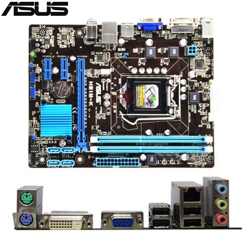 original Used Desktop motherboard For ASUS H61M-K A55 support LGA 1155  2*DDR3 support 16G 4*SATA2 ATX original used desktop motherboard for asus p5ql pro p43 support lga7756 ddr2 support 16g 6 sata ii usb2 0 atx