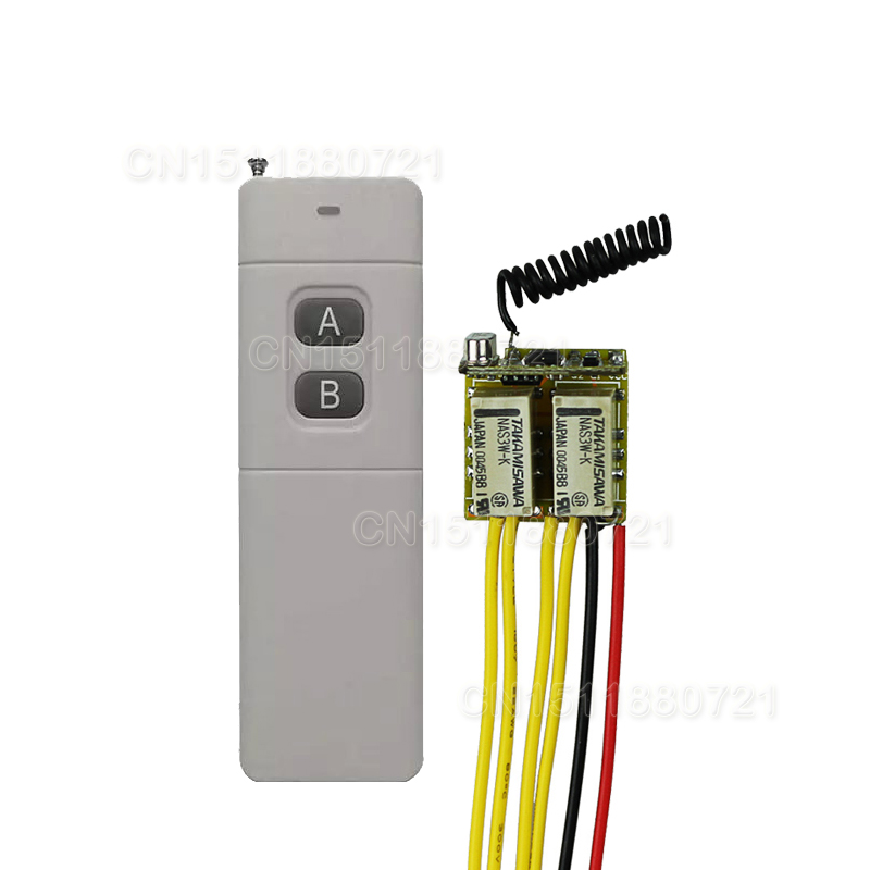 Long Range Mini RC Remote Switch4V 5V 6V 7.4V 9V 12V Micro Wireless Switch NO NC COM Normally Close Open Button Remote RXTX high sensitivity small remote relay switch dc 3 5v 12v mini receiver with transmitter normally open close wireless switch top