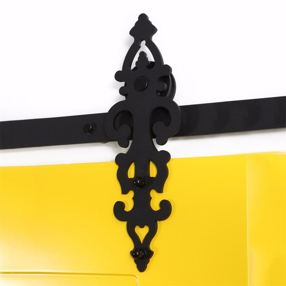 LWZH Sliding Barn Door Track Rail Sliding Track Hardware Kit Barn Wood Door Basic Sliding Track Roller for Closet Sliding Door