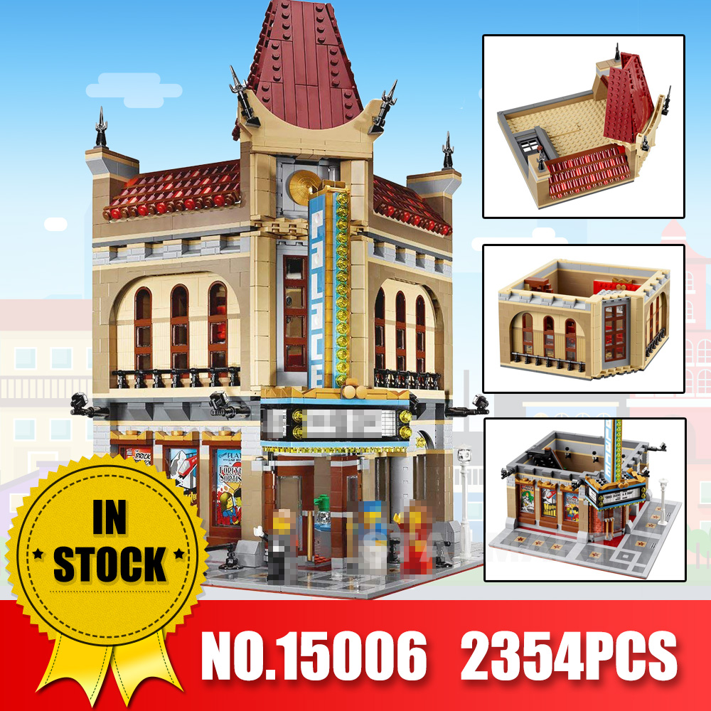LEPIN 15006 2354pcs City Street Palace Cinema Model Building Blocks Set Bricks Toys Compatible Legoingly 10232 Toys For Children city street series 15006 2354pcs palace cinema building blocks creator compatible legoing 10232 bricks toys gifts for children